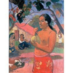 Woman Holdinga Fruit,Paul Gauguin,50x38cm