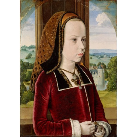 Portrait of a Young Princess,Master of Moulins,60x42cm