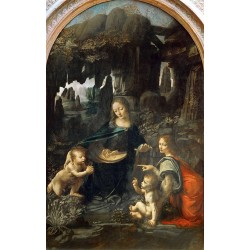 The Virgin of the rocks,LEONARDO da Vinci,60x38cm