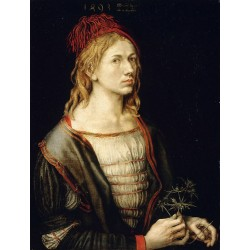 Self-Portrait with sea holly,Albrecht Durer,50x38cm