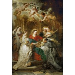 Aparicion of Maria to San IIdefonso,Peter Paul Rubens,60x40cm