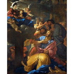 The Virgin of the Pilar and its,Nicolas Poussin,50x40cm