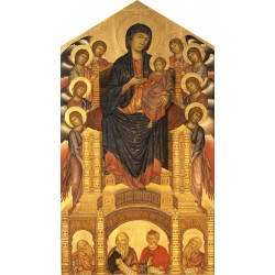 Throning Madonna with angels and prophets,Cimabue,60x34cm