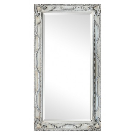 Beveled mirror in solid wood, 60x110 cm