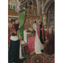 The Mass of Saint Giles,MASTER of Saint Gilles,50x37cm