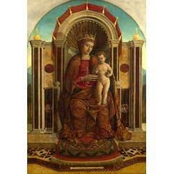 The Virgin and Child Enthroned,Gentile Bellini,60x40cm