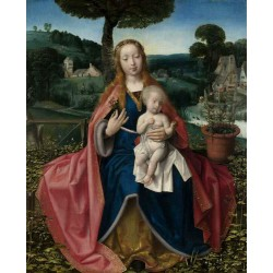 THe Virgin and Child in a Landscape,Jan provoost,60.2x49.5cm