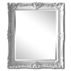 Beveled mirror in solid wood, 26x31 ins