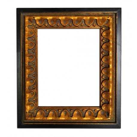 27x32 cm or 10x12 ins, golden frame with mirror