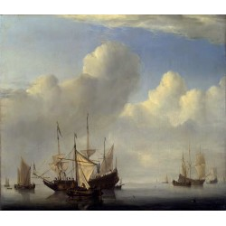 A Dutch Ship Coming to Anchor and,Willem van de Velde,50x43cm