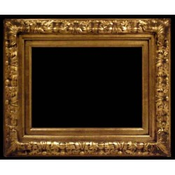 Wooden frame in golden color, 24x36 ins