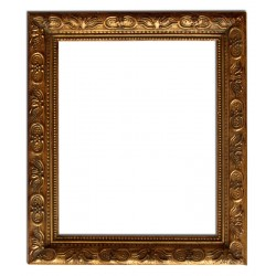 27x32 cm or 11x13 ins, golden frame with mirror
