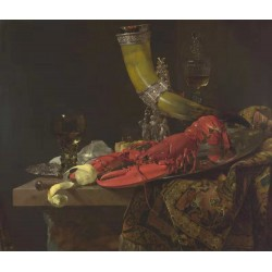 Still Life with the Drinking-Horn of the,Willem Kalf,50x43cm