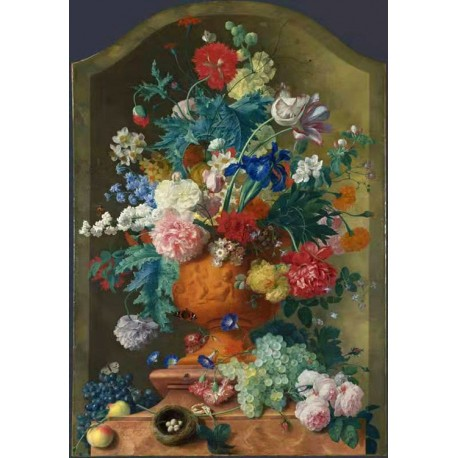 Flowers in a Terracotta Vase,Jan van Huysum,60x42cm