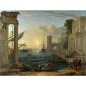 Seaport with the Embarkation of the Queen,Claude Lorrain,50x38cm