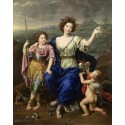 THe Marquise de Seignelay and Two of her,Pierre Mignard,50x40cm