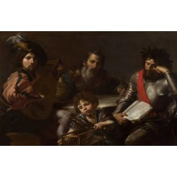 The Four Ages of Man,VALENTIN DE BOULOGNE,60x40cm