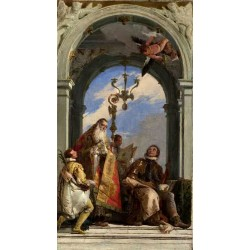 Saints Maximus and Oswald,Giovanni Battista Tiepolo,58.4x32.4cm