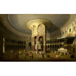 London Interior of the Rotunda at Ranelagh,Canaletto,60x38cm