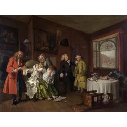 Marriage a la mode VI The Lady-s Death,William Hogarth,50x38cm
