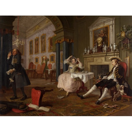 Marriage a la Mode ii The Tete a Tete,William Hogarth,50x38cm