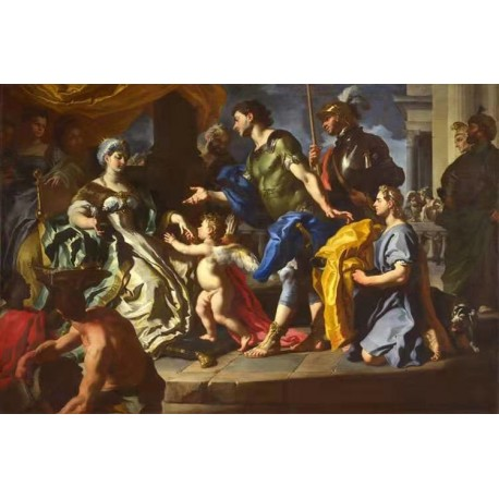 Dido Receiving Aeneas and Cupid,Francesco Solimena,60x40cm