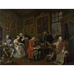 Marriage a la Mode i The Marriage,William Hogarth,50x38cm