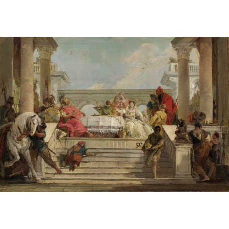 THe Banquet of Cleopatra,Giovanni Battista Tiepolo,60x40cm
