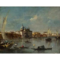 The Giudecca with the Zitelle,Francesco Guardi,50x40cm