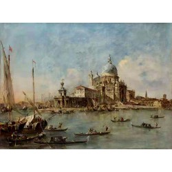 Venice The Punta della Dogana with,Francesco Guardi,50x37cm