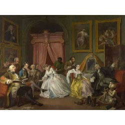 Marriage a la Mode IV The Toilette,William Hogarth,50x38cm