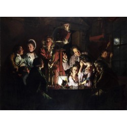 An Experiment on a Bird in the,Joseph wright of derby,50x37cm