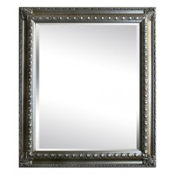 Beveled mirror in solid wood, 53x63 cm