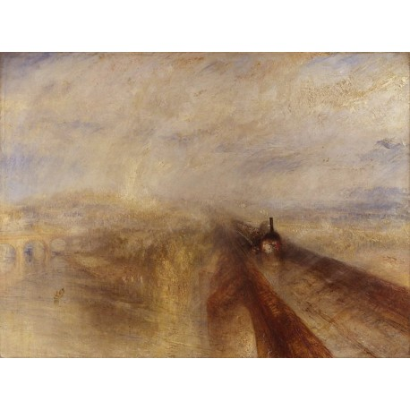 Rain,Steam and Speed The Great Western,J.M.W. Turner,50x37cm