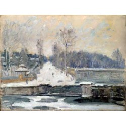 The Watering Place at Marly le Roi,Alfred Sisley,50x38cm