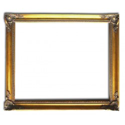 30x40 cm or 12x16 ins, golden frame