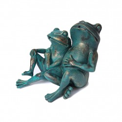 Two frogs, fountain for your garden 30x27x20 cm