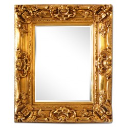 50x60 cm or 20x24 ins, golden frame with mirror