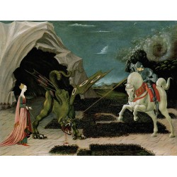 Saint George,the Princess and the Dragon,Paolo Ucello,50x38cm