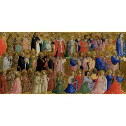 The Virgin mary with the Apostles and,Fra Angelico,32x63.5cm