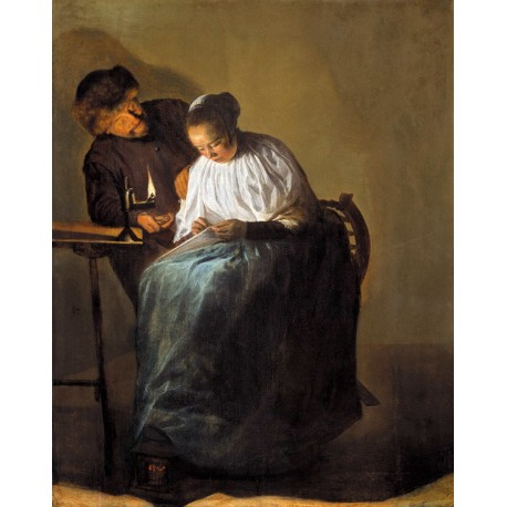 The proposal,Judith leyster,30.9x24.2cm