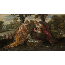 The Finding of Moses,Jacopo Tintoretto,60x34cm