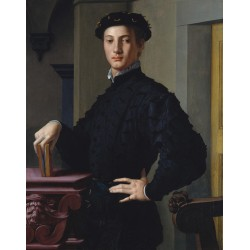 Portrait of a young man,Agnolo Bronzino,50x40cm