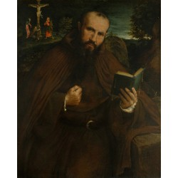 Portrait of Brother Gregorio da Vicenza,Lorenzo Lotto,50x40cm