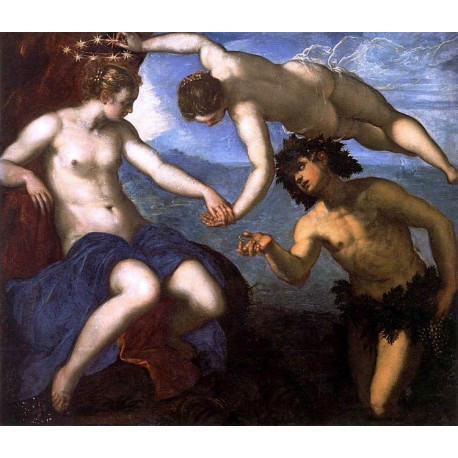 Marriage of Bacchus and Ariadne,Jacopo Tintoretto,50x43cm