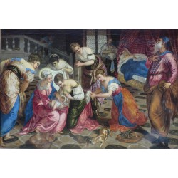 The Birth of St John the Baptist,Tintoretto,60x40cm