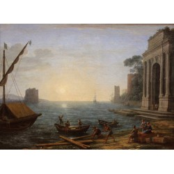 Morning in the Harbour,Claude Lorrain,50x36cm