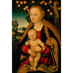 THe Virgin and Child under the,Lucas Cranach the Elder,60x40cm