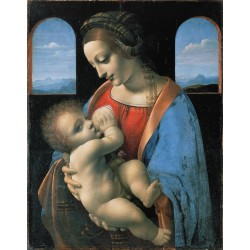 Madonna and Child,LEONARDO da Vinci,50x40cm
