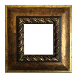 7,5x7,5 cm or 3x3 ins, wooden photo frame